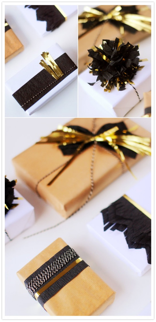 black-gold-holiday-gift-wrap